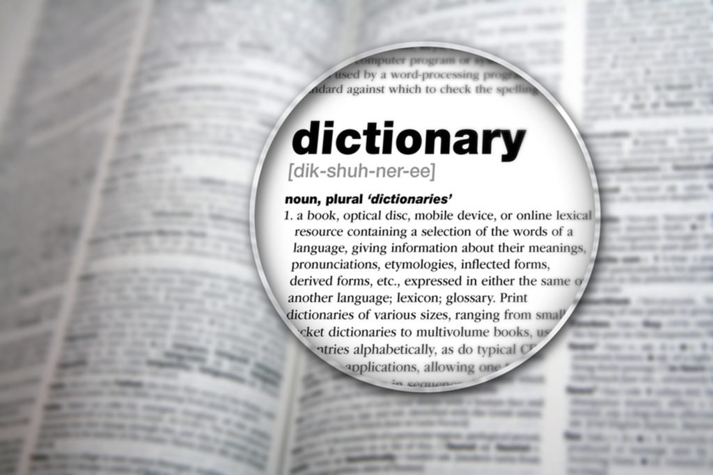 OLD DICTIONARY, NEW WORDS